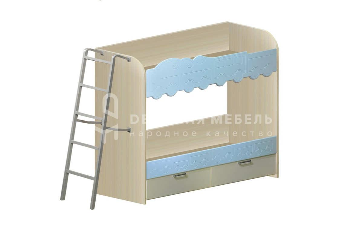 Детская двухъярусная кровать с лестницей