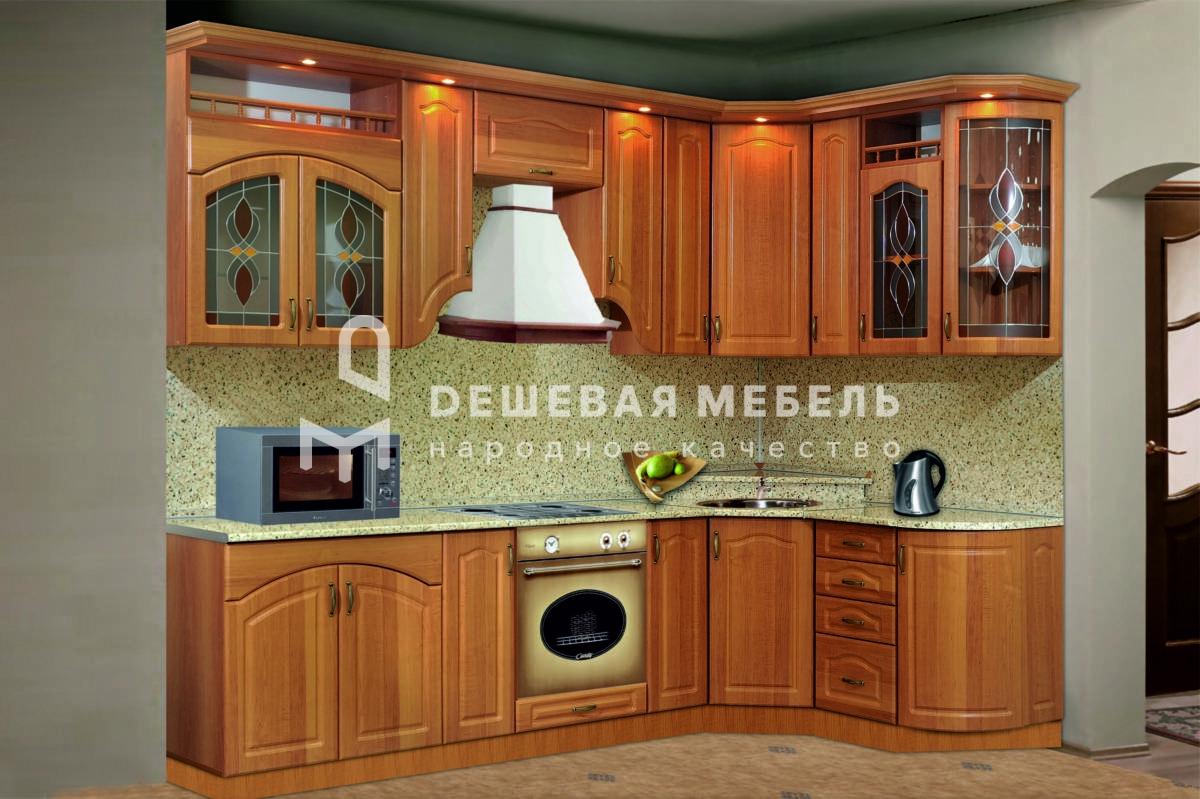 """Классическая кухня с угловой планировкой """"Традиция арт.15"""""""