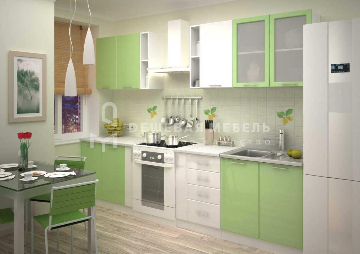 Бело зеленая кухня