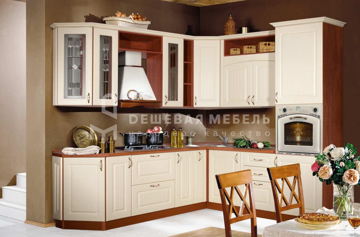 """Светлая угловая кухня в стиле классика """"Традиция арт.24"""""""