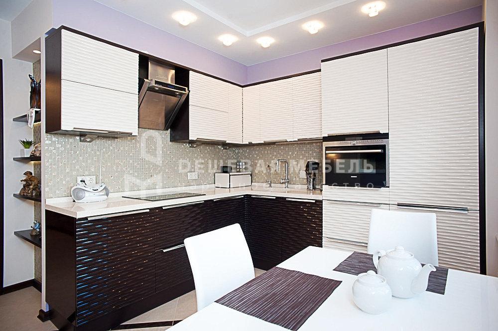 """Кухня в стиле хай-тек с 3D фасадами """"Мираж арт.4"""""""