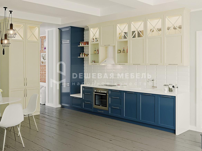 """Мебель для кухни """"Лазурит"""" в неоклассическом стиле"""