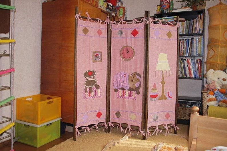 разделение комнаты на детскую и гостиную